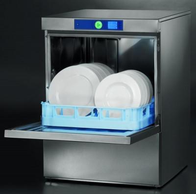 Profispülmaschine FXS-10 A / 3-6 Minuten, Korb 500 mm, 1 Teller-, 1 Gläser-, 1 Universalkorb, 1 Besteckköcher, incl. Adapter 400 V / 230 V