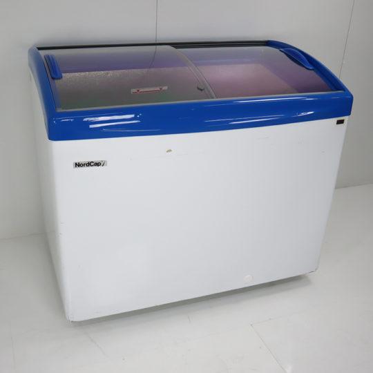 Kühl-/Tiefkühltruhe mit Glasschiebedeckel, 350 Liter