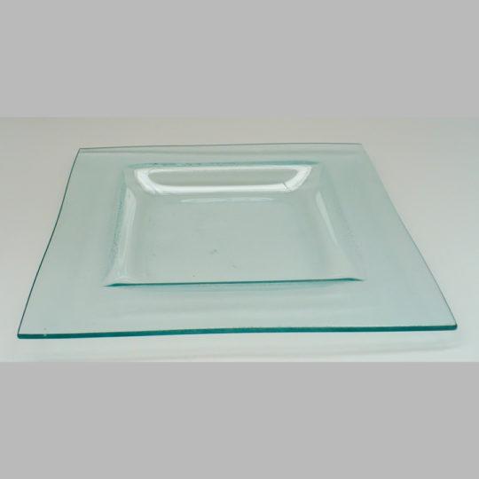 Glasteller eckig, 270 x 270 mm