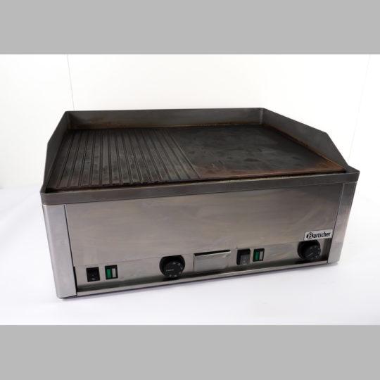 Griddleplatte, Bratfläche glatt-gerillt, 6 kW / 400 V