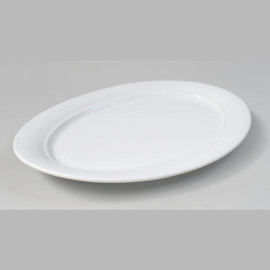 Porzellanplatte oval, 450 x 300 mm, weiß