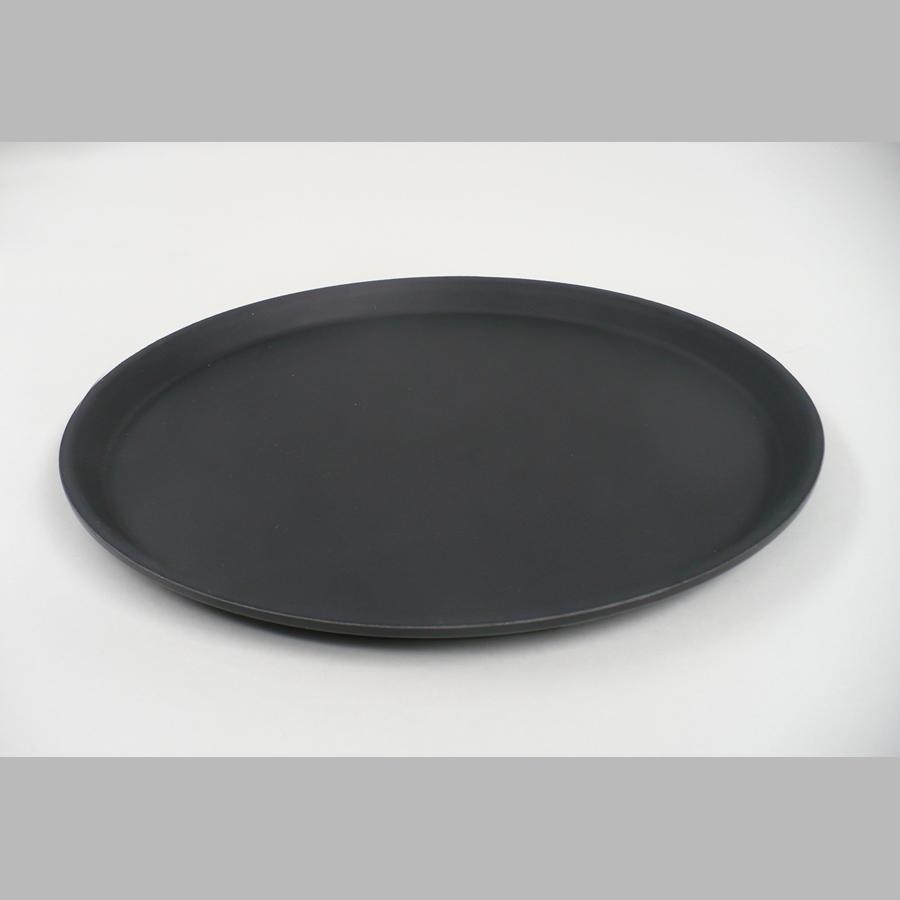 Tablett rund, Ø 360 mm, rutschfest, schwarz
