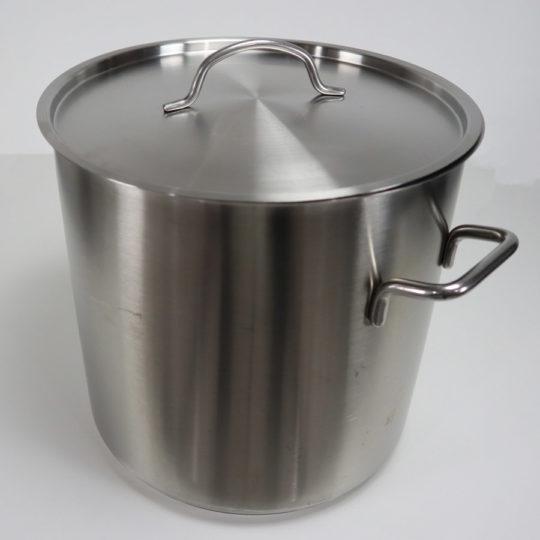 Edelstahltopf mit Deckel, 12 Liter, Induktion