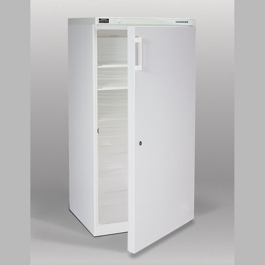 Flaschenkühlschrank 554 Liter, abschließbar, vier Einlegegitter, weiß