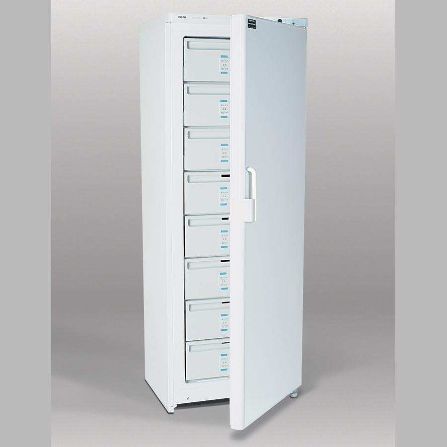 Gefrierschrank 330 Liter, fünf Schubladen, drei Fächer, weiß