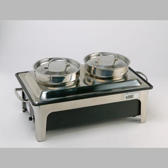 Chafing dish, Suppenstation, 230 V, 2 x 4 Liter, edelstahl