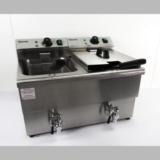 Gastro Doppel Fritteuse 2 x 8 Liter, 2 x 3,25 kW, 2 x Schukostecker