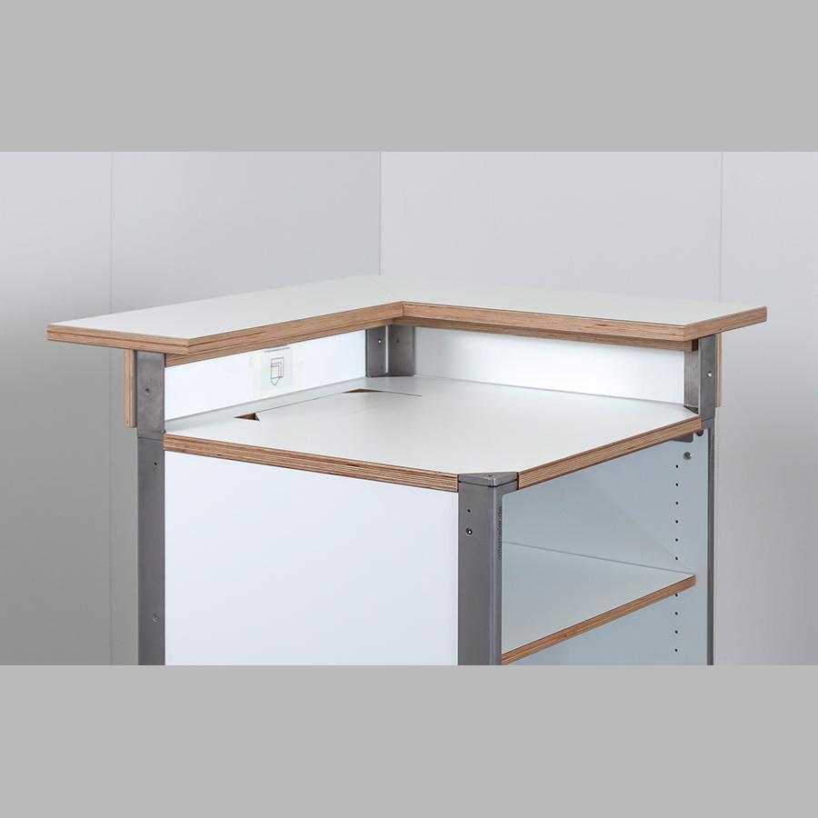 KOOLKITpremium / Aufbau-Modul / Bartresen Ecklösung 90° rechts