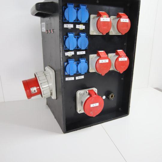 Starkstromverteiler 400V, 125A, (2 x CEE 16 A, 2 x CEE 32 A, 1 x CEE 63 A, 6 x Schuko 230 V)