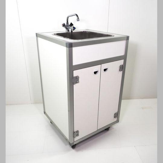 Combi 1 / System-Spülenschrank, B x H x T = 675 x 990 x 600 mm, weiß
