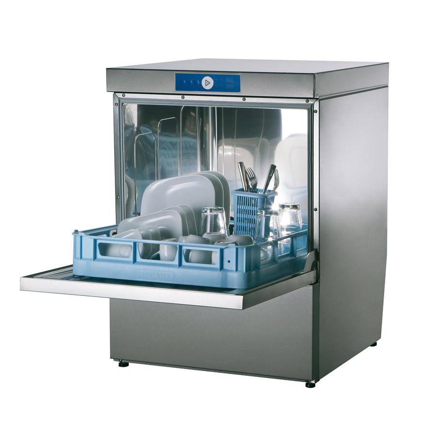 Profi-Geschirrspüler FP-GP, 3-6 Minuten, incl. Adapter 230 V / 400 V, Korb 500 mm, 1 Teller-, 1 Gläser,- 1 Universalkorb,1 Besteckköcher