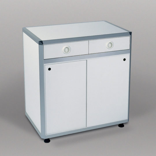 Combi 1 / System-Unterschrank, B x H x T = 900 x 960 x 600 mm, weiß