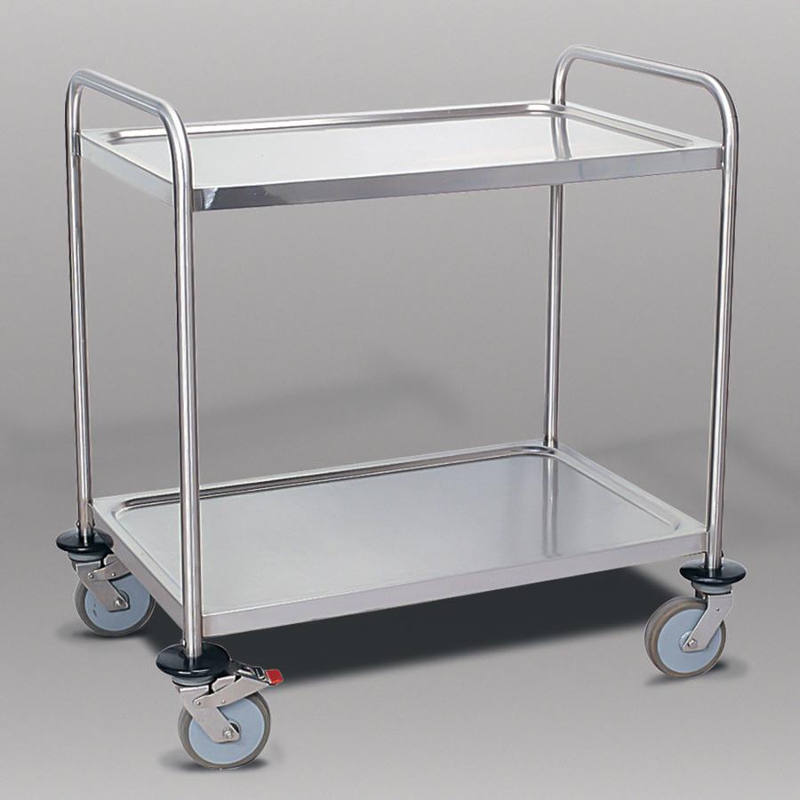 Servierwagen mit 2 Etagen, edelstahl
