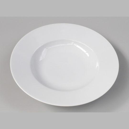 Pastateller mit Fahne, Ø 270 mm, weiß