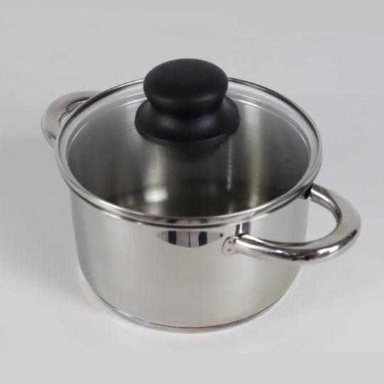 Edelstahltopf mit Deckel, 9 Liter, Induktion