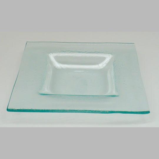 Glasteller eckig, 160 x 160 mm