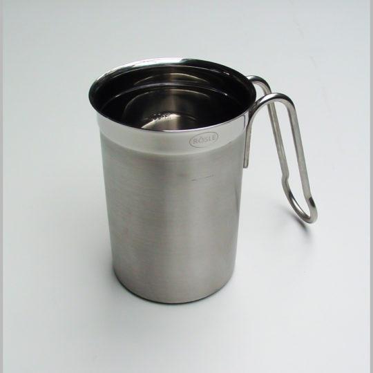 Milchaufschäumbecher 0,25 Liter, edelstahl