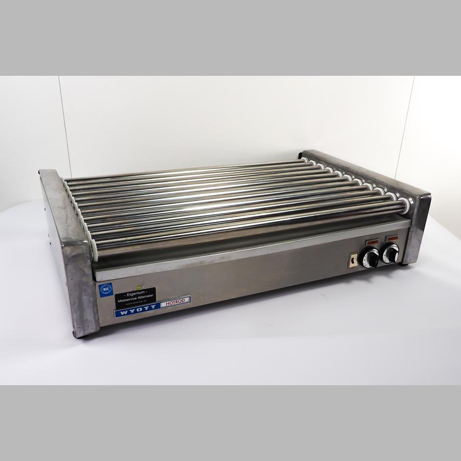 Hot Dog Grill mit 11 Rollen, 2 Heizzonen, B x H x T = 770 x 200 x 470 mm, 3,2 kW / 400 V