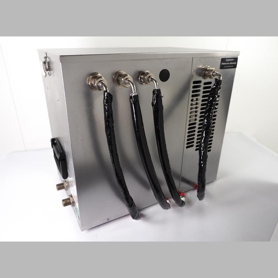 Durchlaufkühler für 2 Zapfstellen, Untertisch (Nasskühler)