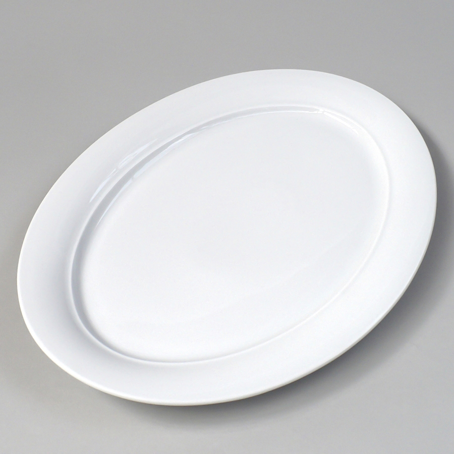 Porzellanplatte oval, 360 x 259 mm, Avanti, weiß