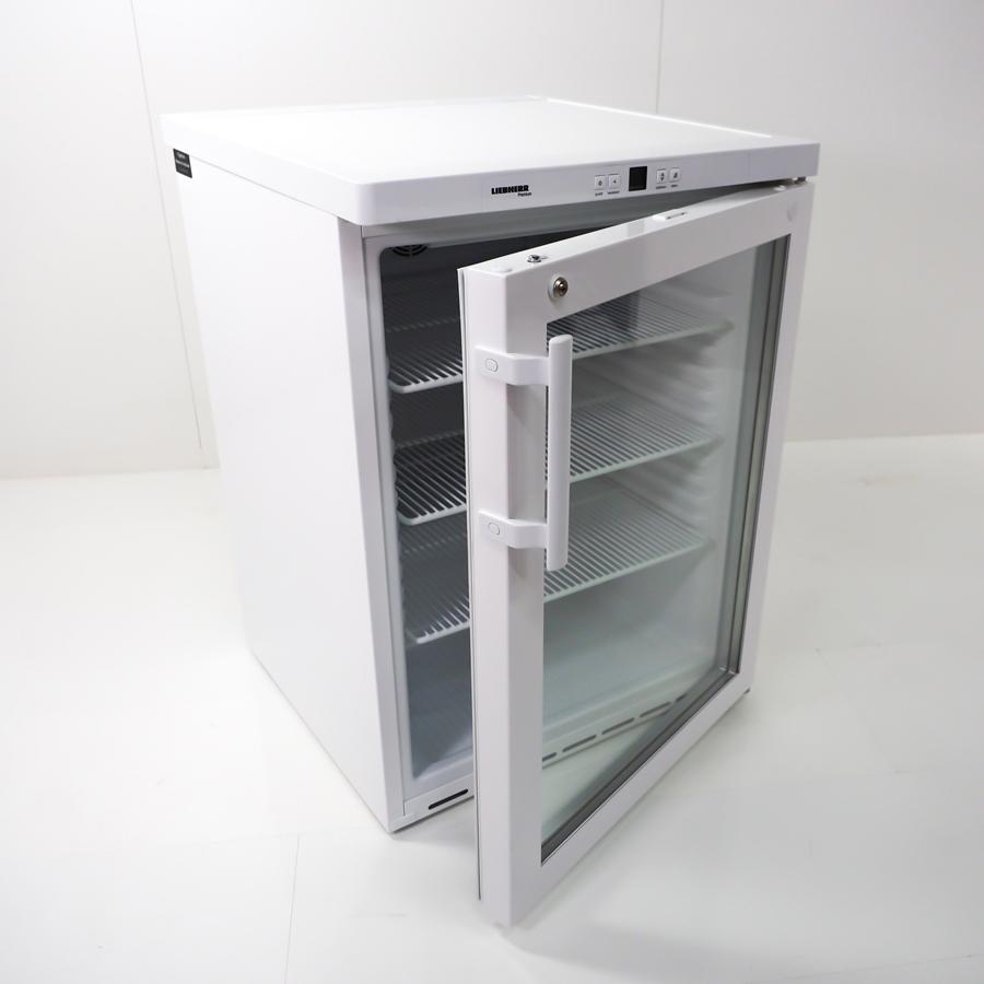 Unterbau-Flaschenkühlschrank 180 Liter, Glastür, abschließbar, drei Einlegegitter, weiß