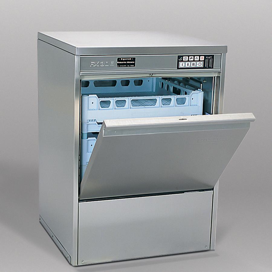 Profi-Geschirrspüler FX 30/40, 3-6 Minuten, 400 V, extra tiefer Innenraum, Korb 500 mm, 1 Teller-, 1 Gläser-, 1 Universalkorb, 1 Besteckköcher