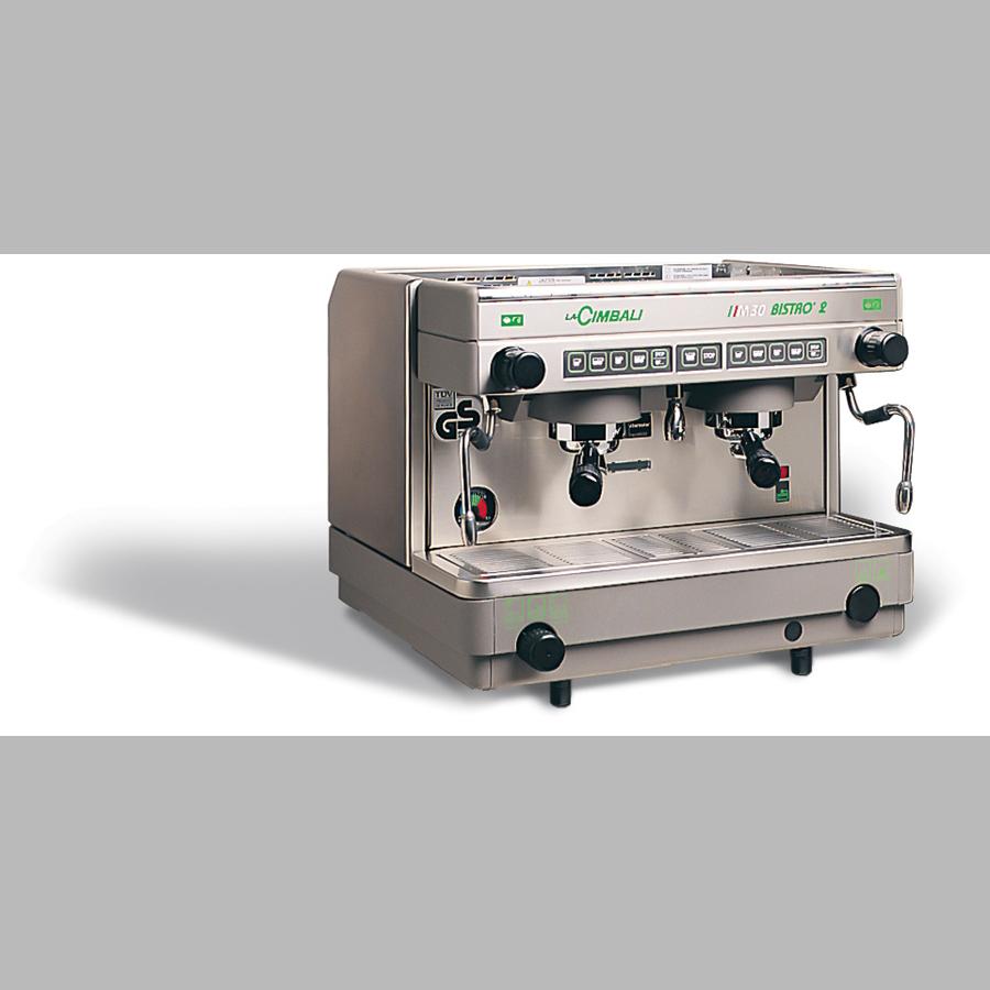 Bistro/Espressomaschine, 2-gruppig 'LaCimbali M30', 230 V / 400 V, Festwasseranschluss