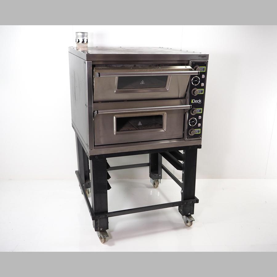 Pizzaofen I-Deck 60.60, 400 V / CEE 16 A, bis 450°C edelstahl / schwarz