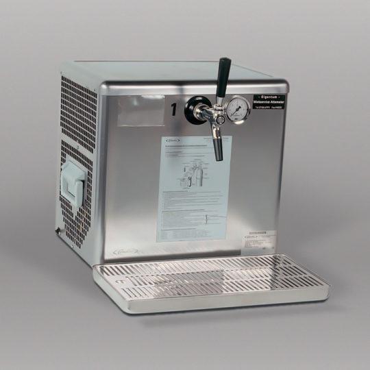 Durchlaufkühler für 1 Zapfstelle, Auftisch/Untertisch (Trockenkühler)
