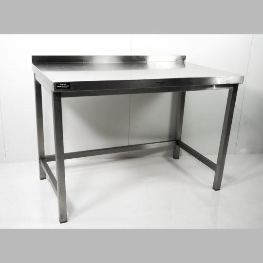 V2A-Arbeitstisch, ohne Ablageboden,  B x H x T = 1200 x 890 x 700 mm, edelstahl (höhenverstellbar)