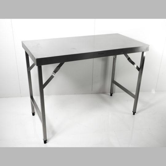 V2A-Klappbarer-Edelstahlarbeitstisch,  B x H x T = 1200 x 900 x 600 mm (höhenverstellbar)