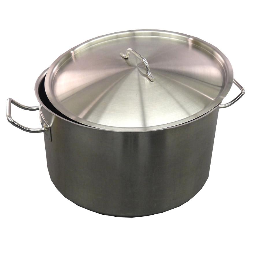 Edelstahltopf mit Deckel, 30 Liter, Induktion