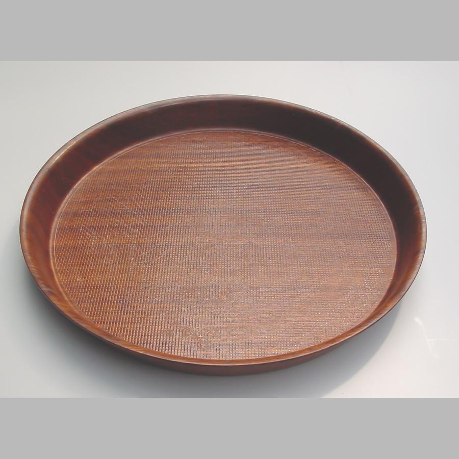 Tablett rund, Ø 320-360 mm, rutschfest, braun