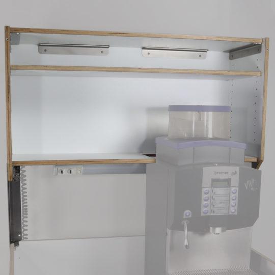 KOOLKITpremium / Aufbau-Modul / Oberschrank mit Ausschnitt rechts für hohe Geräte