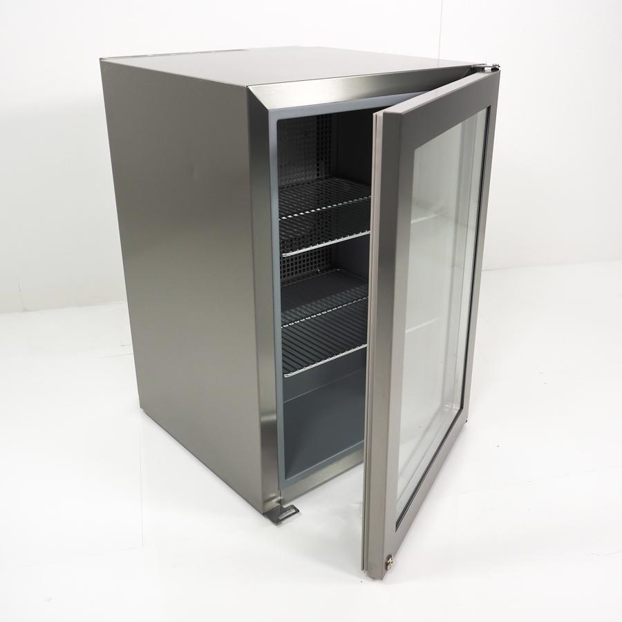 Display Flaschenkühlschrank 45 Liter, Glastür, edelstahl