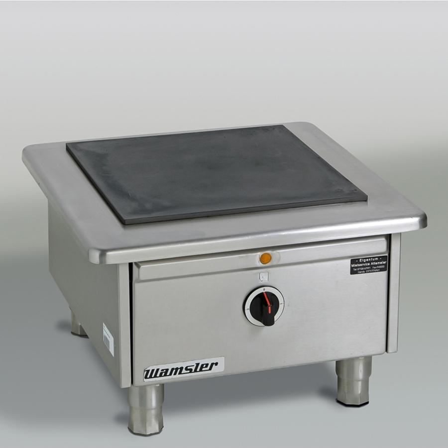 Hockerkocher 400 V, B x H x T = 620 x 430 x 640 mm, edelstahl