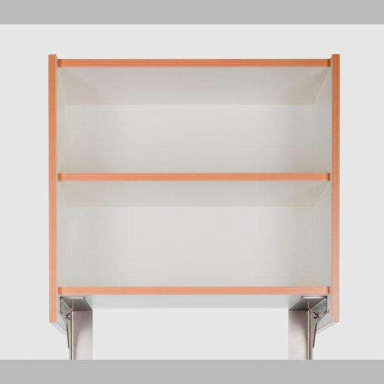 KOOLKITpure / Standard Oberschrank 1/2  mit Einlegeboden