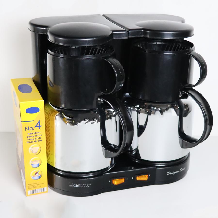 Duo-Kaffeeautomat mit Thermoskannen, 2 x 10 Tassen