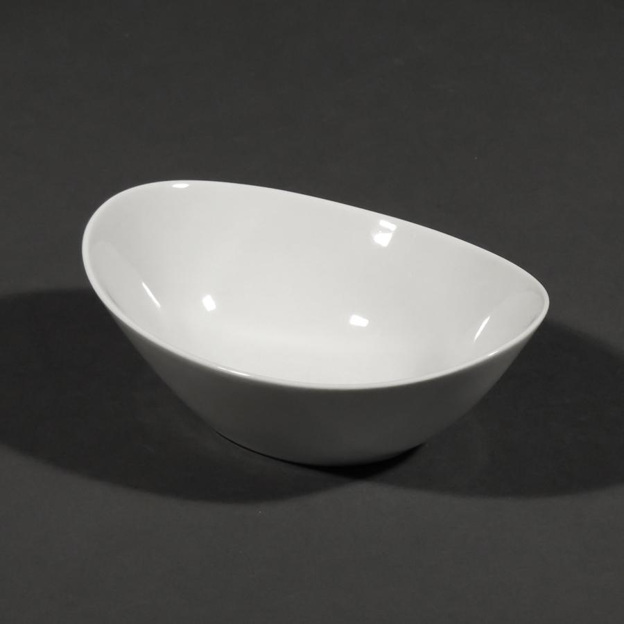 Schale oval hoch, 160 mm, Unlimited, weiß