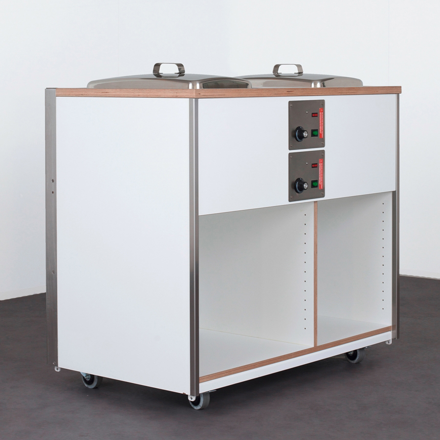 Combi 3 / Basis-Modul Catering-Element Frontcooking incl. 2 Einbau-Bain-Marie