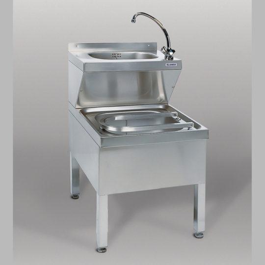 Gastro-Handwaschbecken, B x H x T = 500 x 850 x 700 mm, edelstahl