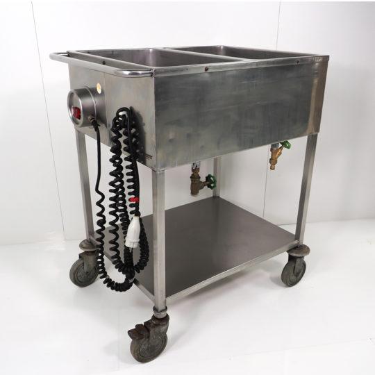Speiseausgabewagen 2 x 1/1 GN, fahrbar, unten offen, edelstahl