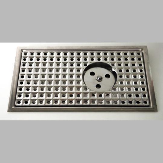 Einbautropfblech mit integrierter Gläserdusche, 460 x 250 mm