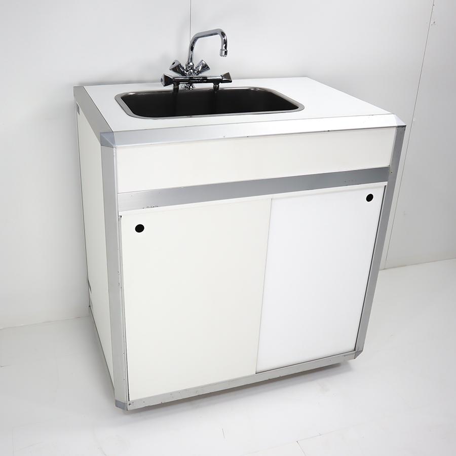 Combi 1 / System-Spüle,Tiefspülbecken  B x H x T = 900 x 960 x 600 mm, weiß, Becken mitte