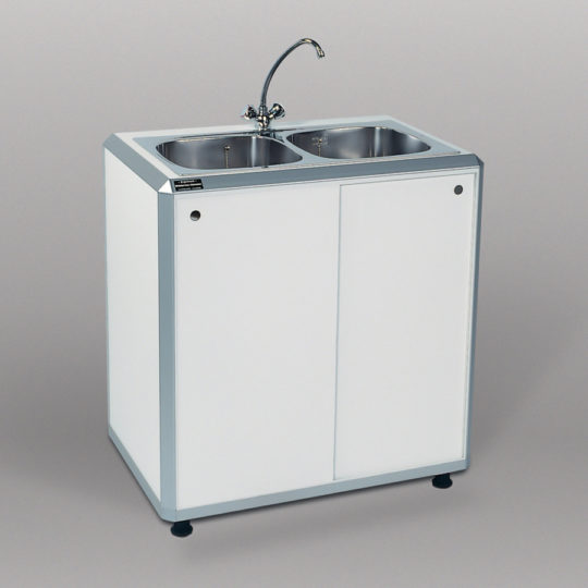 Combi 1 / System-Doppelspüle, B x H x T = 900 x 960 x 600 mm, weiß