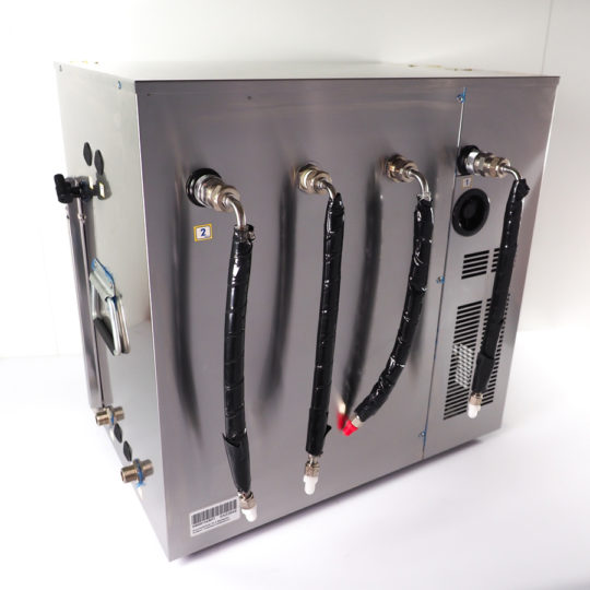 Durchlaufkühler für 2 Zapfstellen Auftisch / Untertisch (Nasskühler)