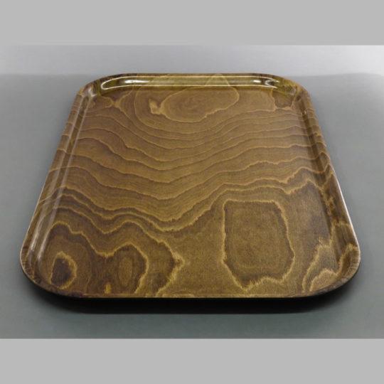 Tablett ca. 750 x 480 mm, rutschfest, braun