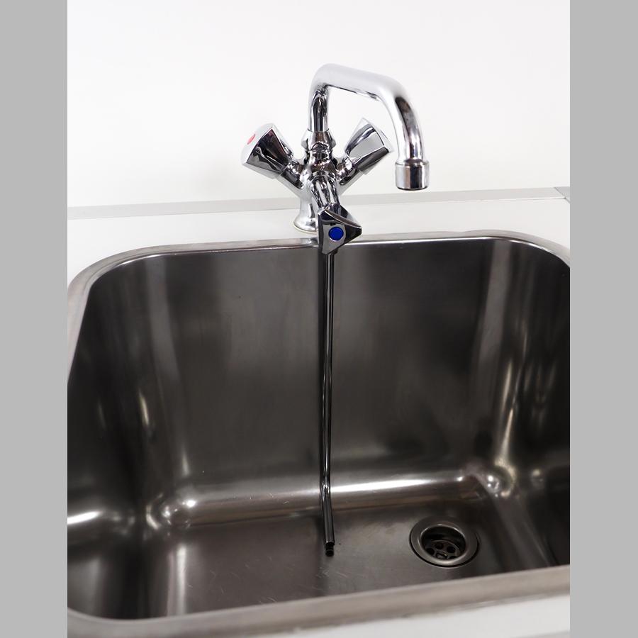 Tiefspülarmatur Warm / Kalt für Ein-Becken
