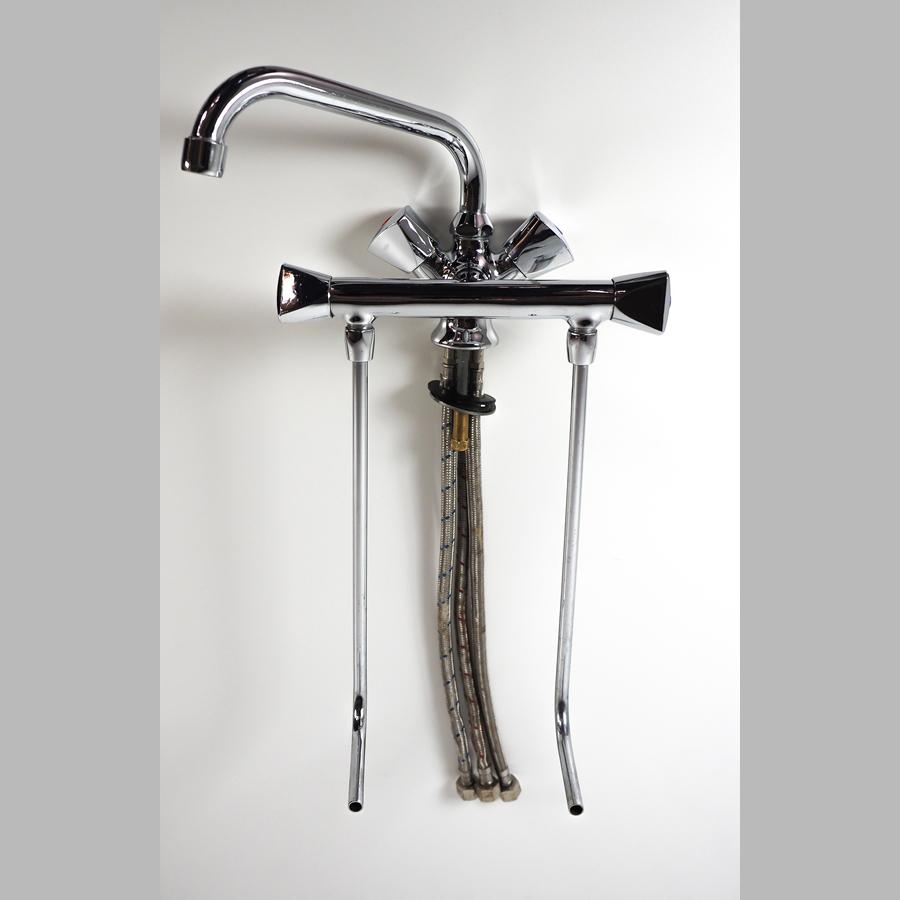 Tiefspülarmatur Warm / Kalt für Zwei-Becken