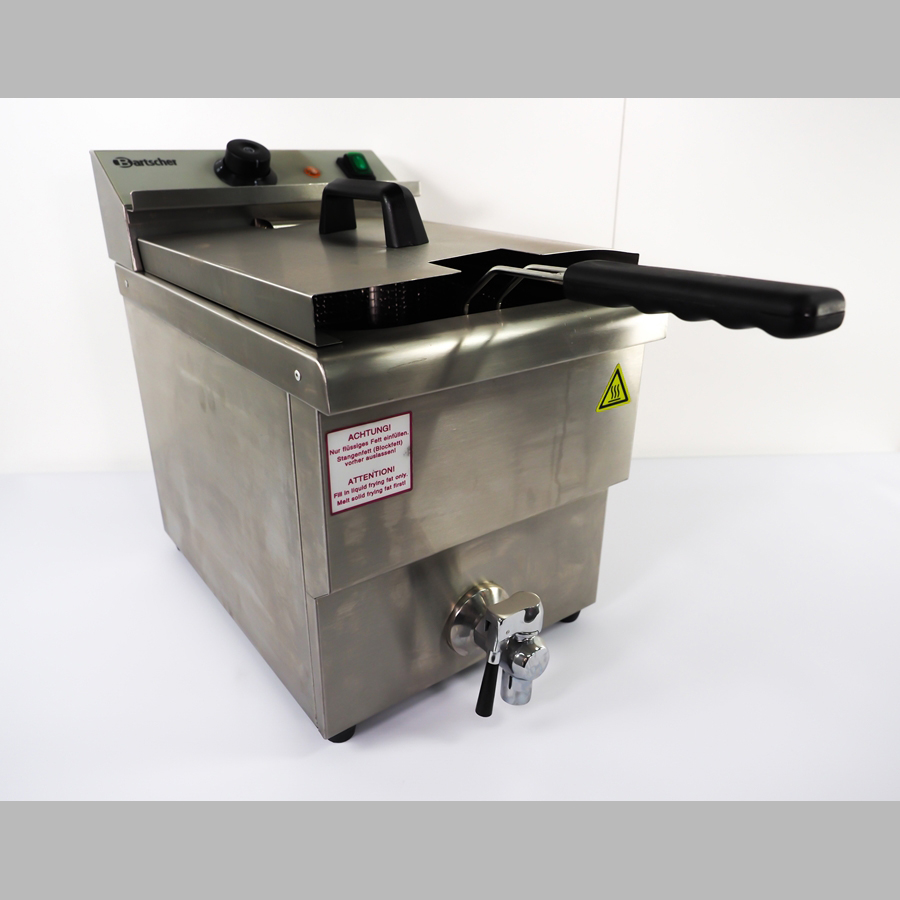 Gastro Einfach Fritteuse 1 x 8 Liter, 1 x 3,25 kW